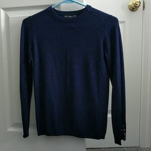 Navy Zara Knit sweater size Small